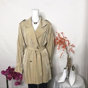 Charles Klein Trench Coat Double Breast Sz M